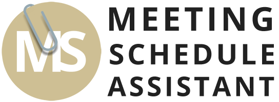 Meeting Schedule Assistant Logo with white background