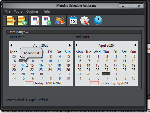 Meeting Schedule Assistant