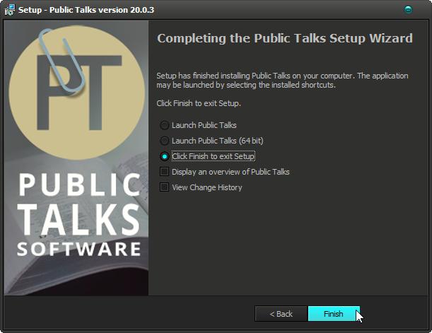 Public Talks Installer