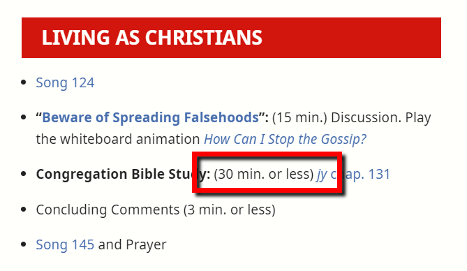 Extract from the September 2020 Meeting Workbook (Living As Christians) section.