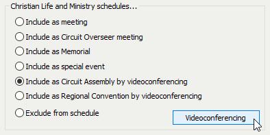 Videoconferencing Button