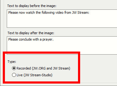 Updated Videoconference Information window